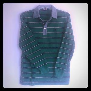 Brooks Brothers Fleece Long Sleeve Polo Boy's L